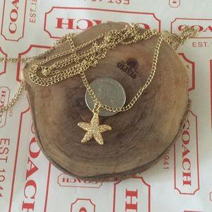 COACH STARFISH pendant necklace